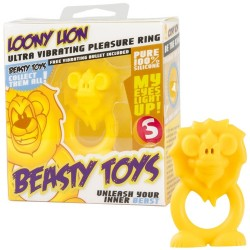 ANEL VIBRATÓRIO COM LUZ BEASTY TOYS LOONY LION