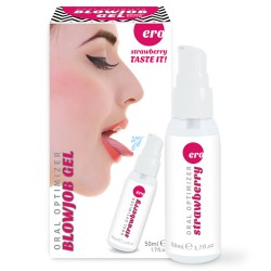 GEL INTÍMO ORAL OPTIMIZER BLOWJOB GEL SABOR MORANGO 50ML