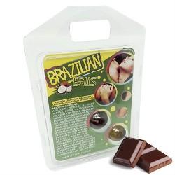 2 BOLINHAS EXPLOSIVAS SABOR A CHOCOLATE BRAZILIAN BALLS