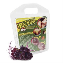 2 BOLINHAS EXPLOSIVAS SABOR A UVA BRAZILIAN BALLS
