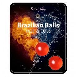BOLAS LUBRIFICANTES BRAZILIAN BALLS EFEITO FRIO & CALOR