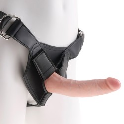 "STRAP-ON REALISTA 7"" KING COCK BRANCO"